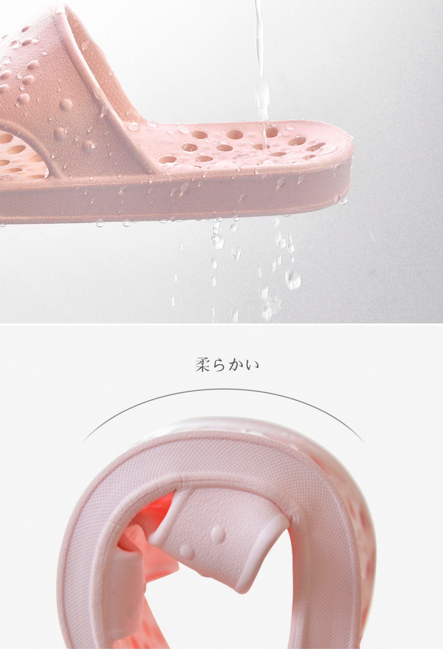 30fbbc326e61 Shower Sandal Slippers Quick Drying Bathroom Slippers Gym Slippers Soft  Sole Open Toe House Slippers