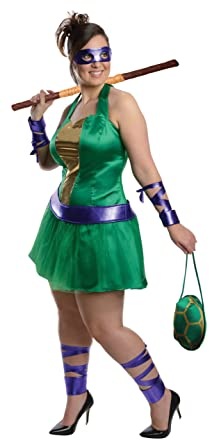 Nickelodeon Plus-Size Ninja Turtles Donatello Dress Green Plus Costume  sc 1 st  Amazon.com & Amazon.com: Nickelodeon Plus-Size Ninja Turtles Donatello Dress ...