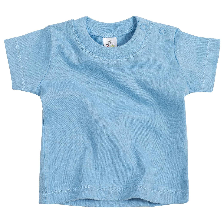 11 Farben 62-80 Druckkn/öpfe Schadstofffrei Kurzarm Tshirt in Gr Baby T-Shirt f/ür M/ädchen /& Jungen GOTS Zertifiziert 100/% Bio-Baumwolle