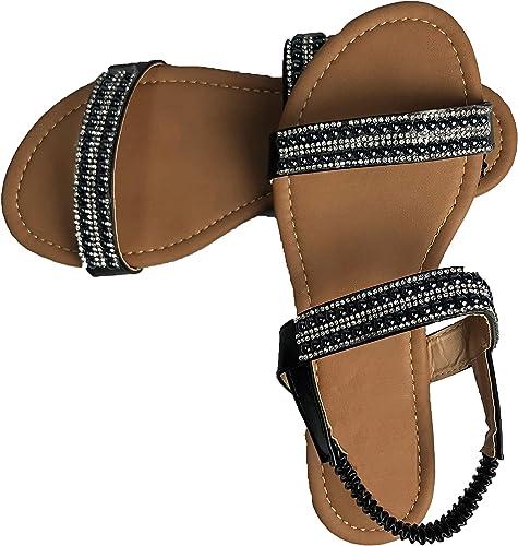US 6-11 Black White Pearl Studded Rhinestone Open Toe Strappy Gladiator Heels