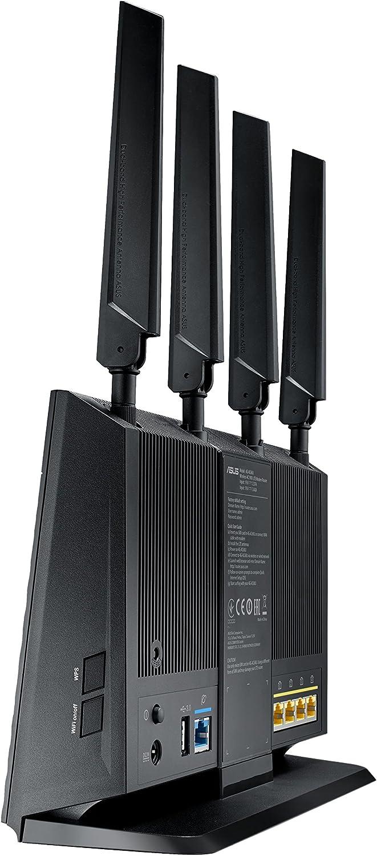 ASUS 4G-AC68U - Router inalámbrico Gigabit AC1900 4G LTE (Cat 6, indicador señal LTE, Servidor y Cliente VPN, USB 3.0, compatible con Ai Mesh wifi)