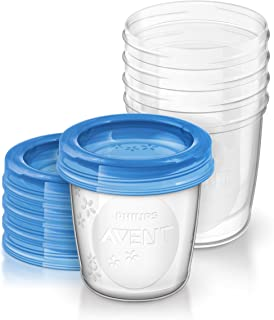 Philips Avent - Set de recipientes para leche materna (5 recipientes 180 ml + 5