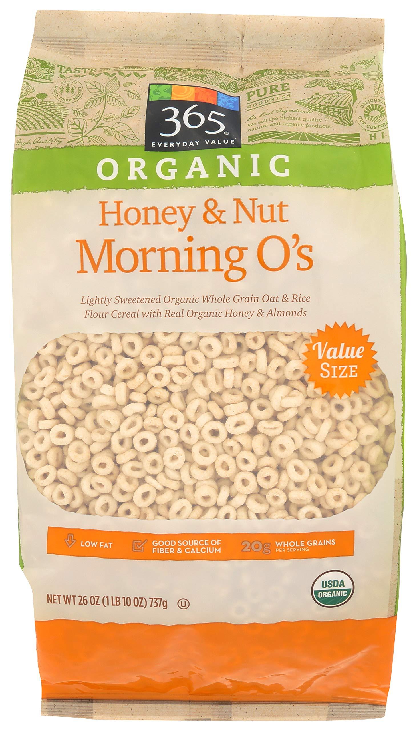 365 Everyday Value, Organic Honey & Nut Morning O's, 26 oz