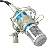 Powerpak BM 800 Blue Silica Gel Professional Condenser Microphone With Metal Shock Mount (Requires Phantom Power Supply Or Sound Card Only )