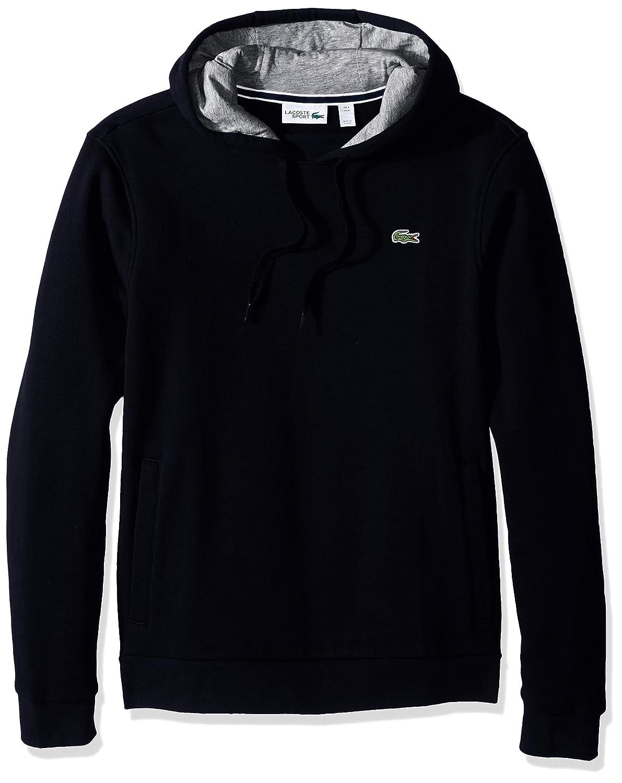 2988df417 Lacoste Men s Sport Pull Over Hoodie Fleece Sweatshirt at Amazon Men s  Clothing store