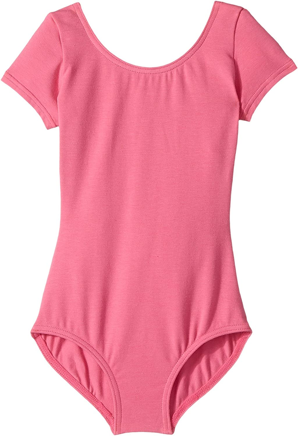 Capezio Kids Baby Girl's Classic Short Sleeve Leotard (Toddler/Little Kids/Big Kids) Candy Pink Jumpsuit