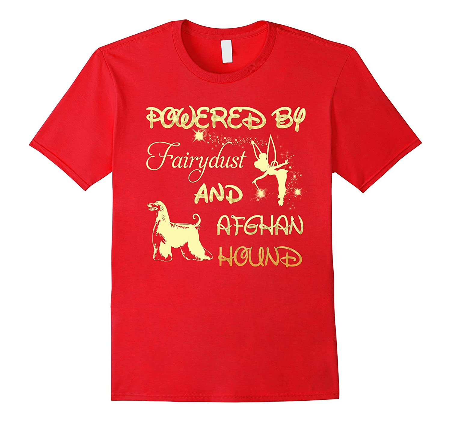 Powered By Fairy dust And Afghan Hound T-Shirt For Women-Art