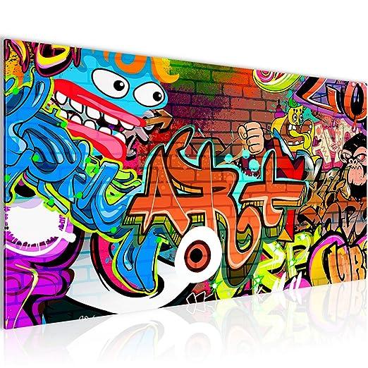 Bilder Graffiti Street Art Wandbild Vlies - Leinwand Bild XXL Format ...