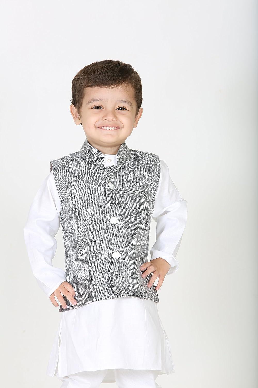 cf34f641c Baby Boy Designer Dress: Needybee Boy7S Silk Blue / Maroon Kurta Pyjama  (Net073Bl_3-