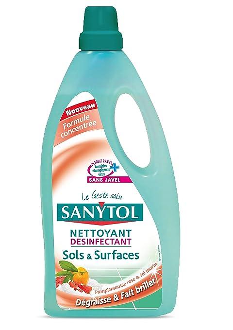 Sanytol detergente para pies los pisos y superficies, o Fruit y molinillo de sal marina