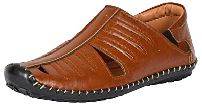 bfedadb56b6 LEE GREATER Mens Brown Roman Sandals Mens Sandals  Buy Online at Low Prices  in India - Amazon.in