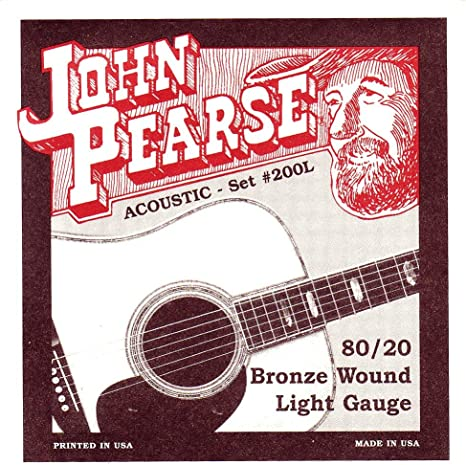 John Pearse 200L - Set de cuerdas para guitarra acústica (calibre ...