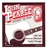 John Pearse P200L Bronze Acoustic Guitar Strings, Light