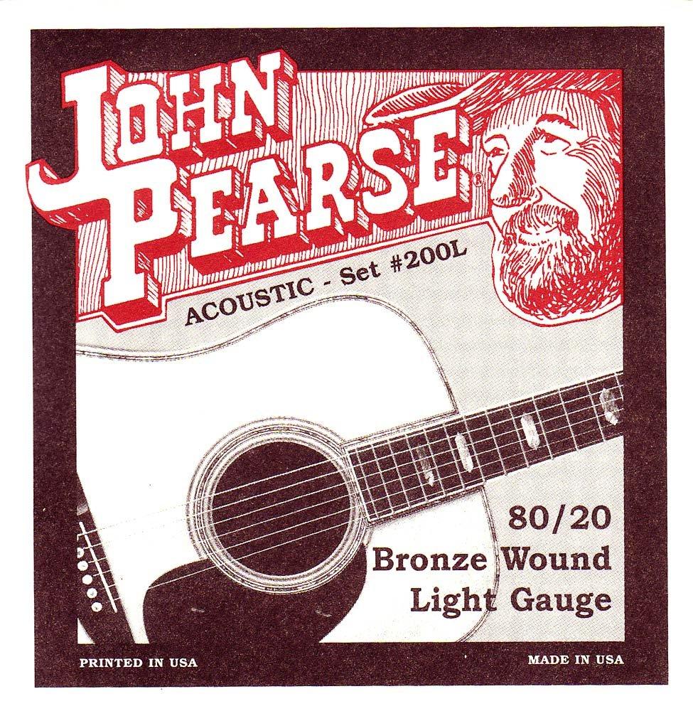 John Pearse P200L Bronze Acoustic Guitar Strings, Light
