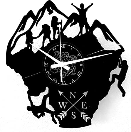 Instant Karma Clocks - Reloj de Pared con temática de montaña, Escalada Escalada, Senderismo, Hombre, Idea Regalo