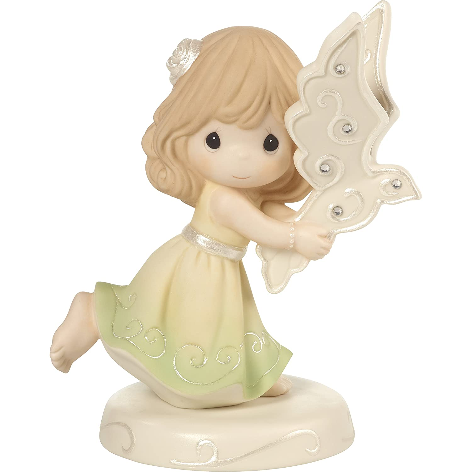 Precious Moments May Peace Fill You Girl Holding Dove Bisque Porcelain Figurine 172012