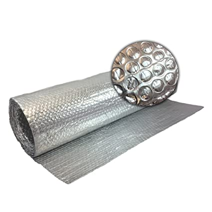 12m X 10m Double Aluminium Single Layer Bubble Wrap Foil Insulation