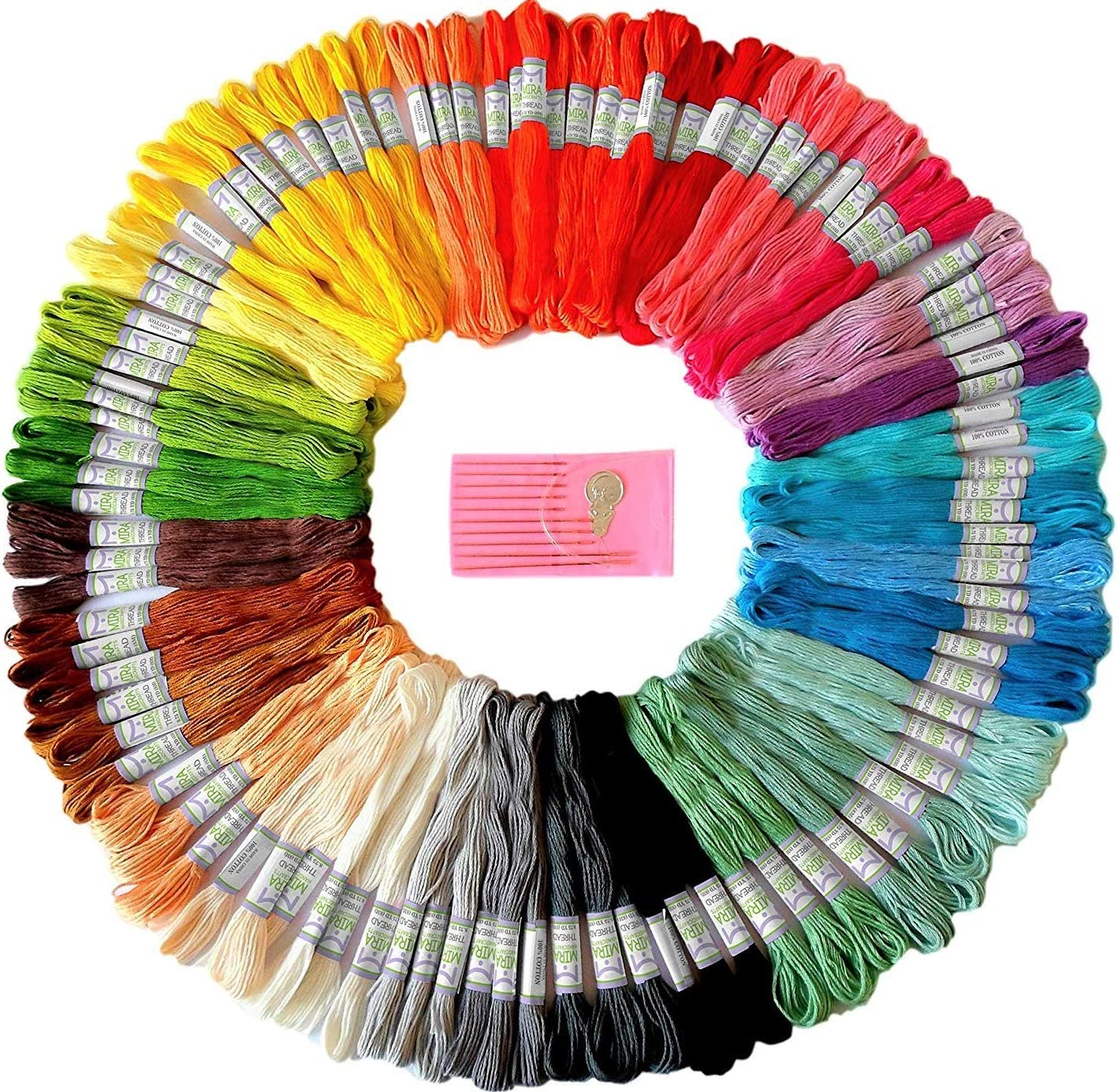Best for crafts: Premium Rainbow Color Embroidery Floss