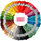 Premium Rainbow Color Embroidery Floss - Cross Stitch Threads - Friendship Bracelets Floss - Crafts Floss - 105 Skeins Per Pa
