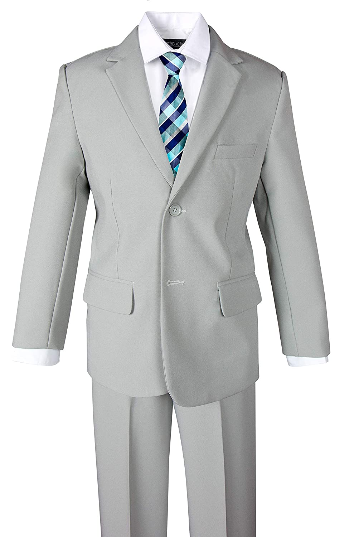 Spring Notion Big Boys 4 Piece Grey Suit Set