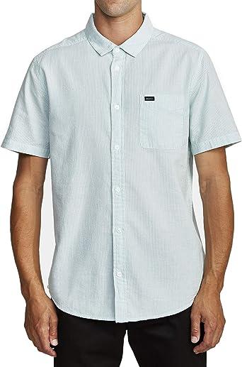 RVCA Camisa de manga corta sin fin Seersucker para hombre: Amazon.es: Ropa y accesorios
