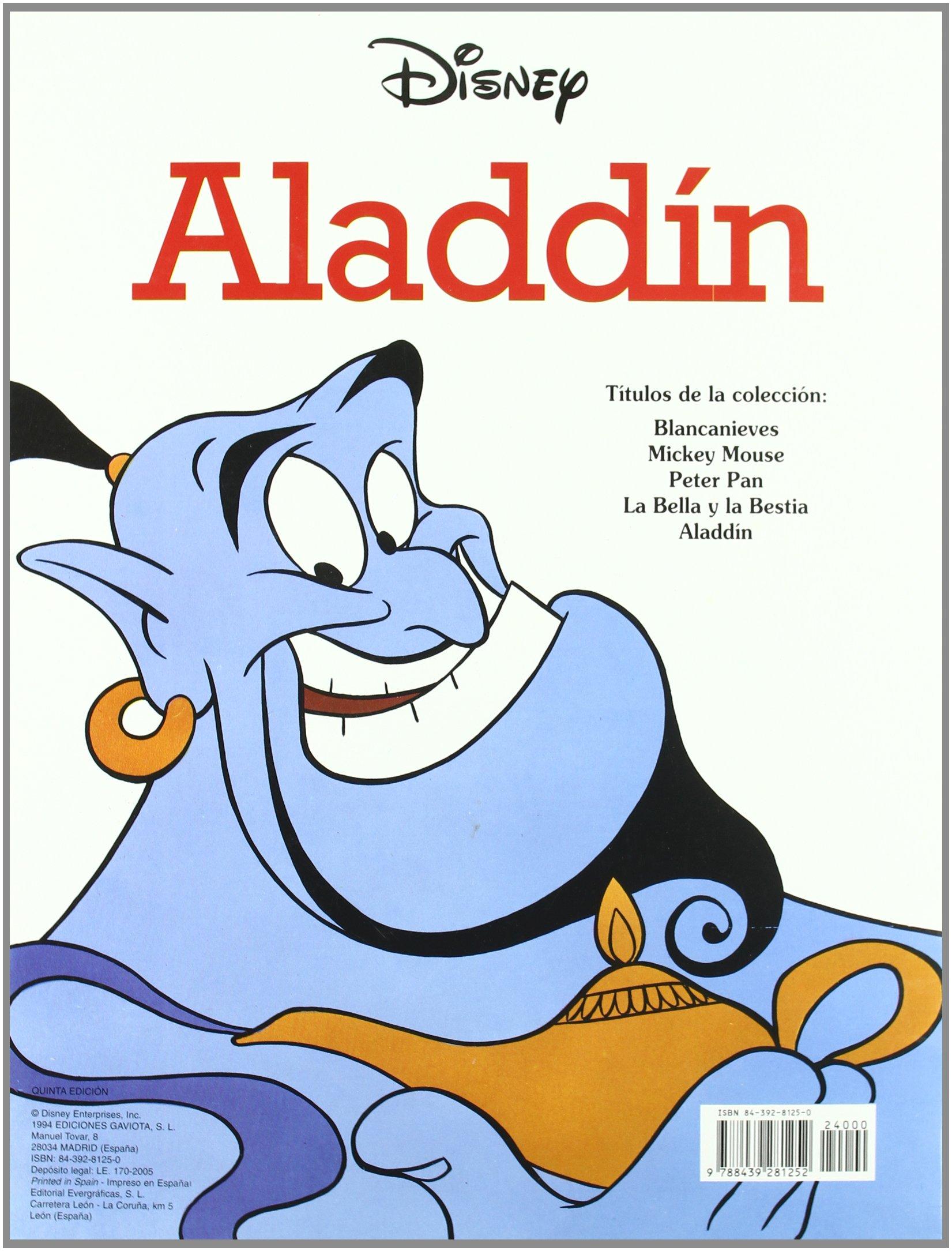 Aladdín (Gran libro de colorear): Amazon.es: Walt Disney Company: Libros
