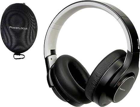 PowerLocus Casque Bluetooth sans Fil,Casque Audio [30 Heures Jeux] avec Micro IntegréIdéal en Ecouteur Sport Et RunningCasqueCasque TV sans Fil
