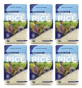 Lotus Foods Organic White Jasmine Rice, 30 Oz (6Count)