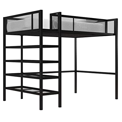 Amazon Com Dhp Tiffany Storage Loft Bed With Book Case Includes