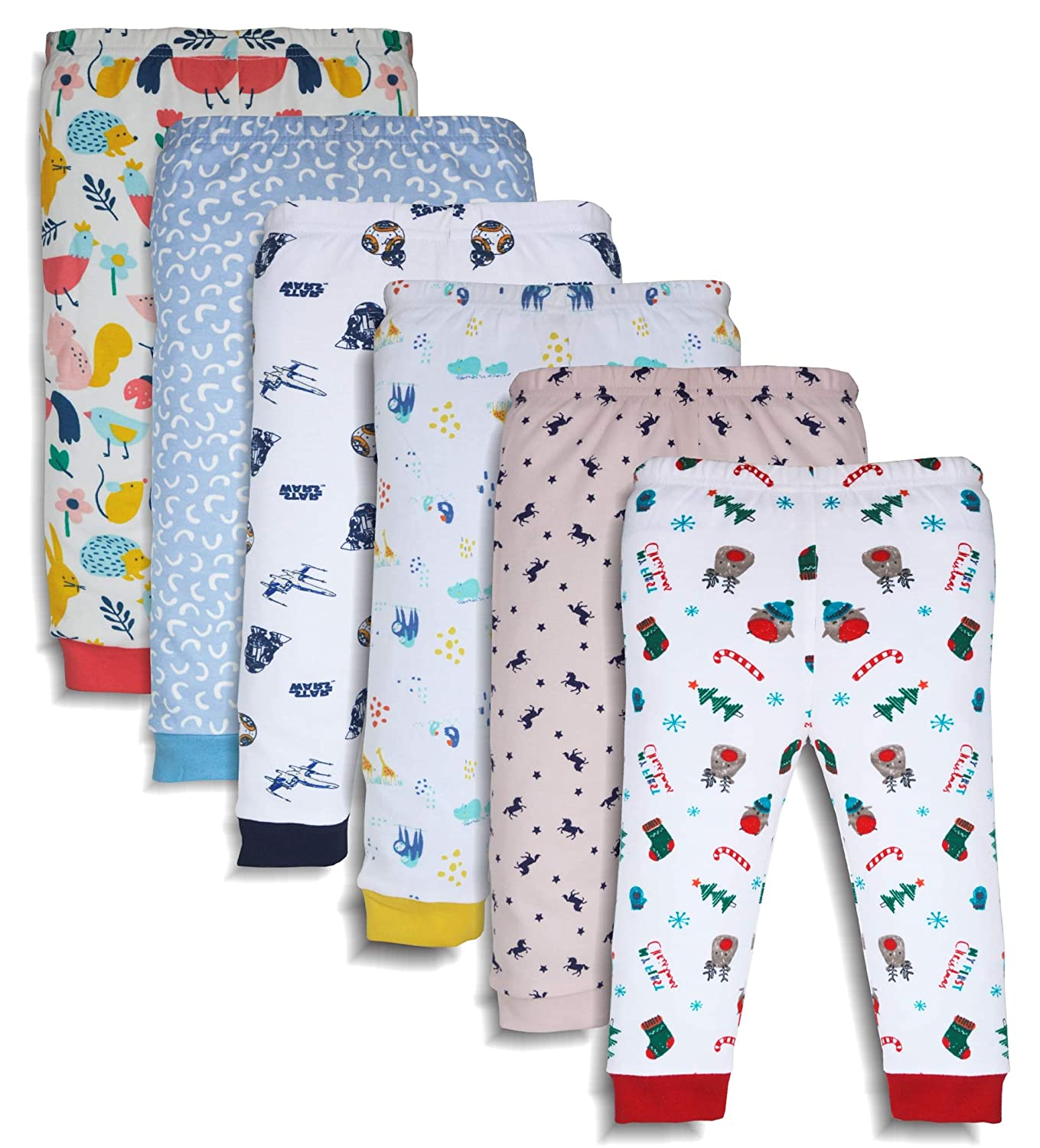 533b13d3c MiniCult Cotton Baby Pajama Pants Unisex with Rib (Pack of 6 ...
