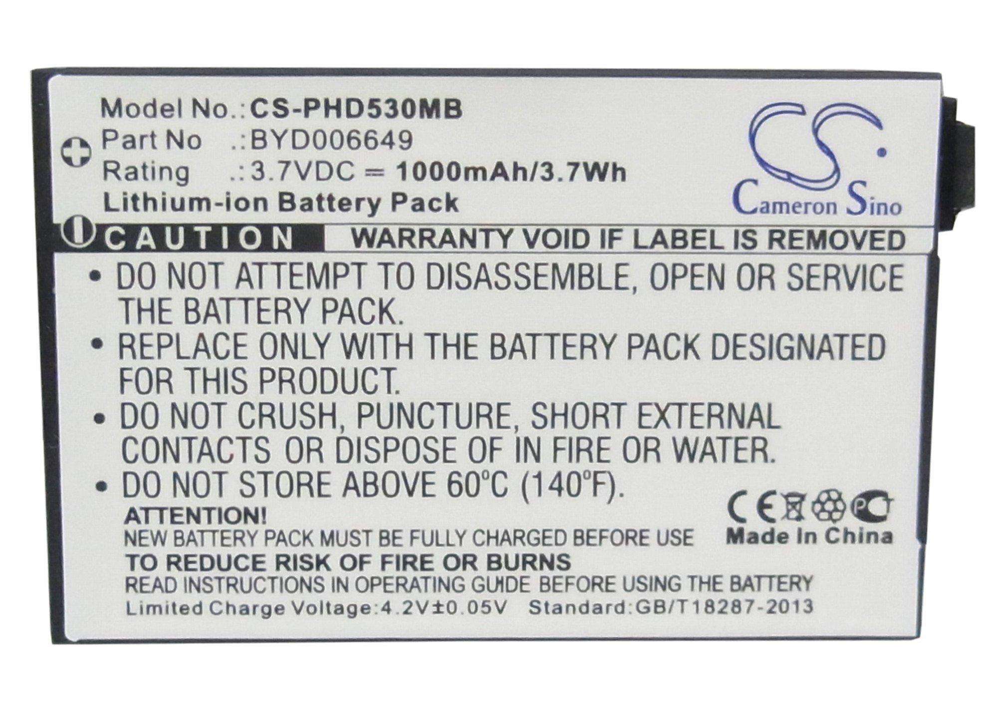 Battery for V-Tech BT298555 Baby BM1000 Baby BM1000 Digital Audio Baby Monitor Safe & Sound Baby Monitor Parent Unit VM321 VM333 VM341 VM343 by Cameron Sino