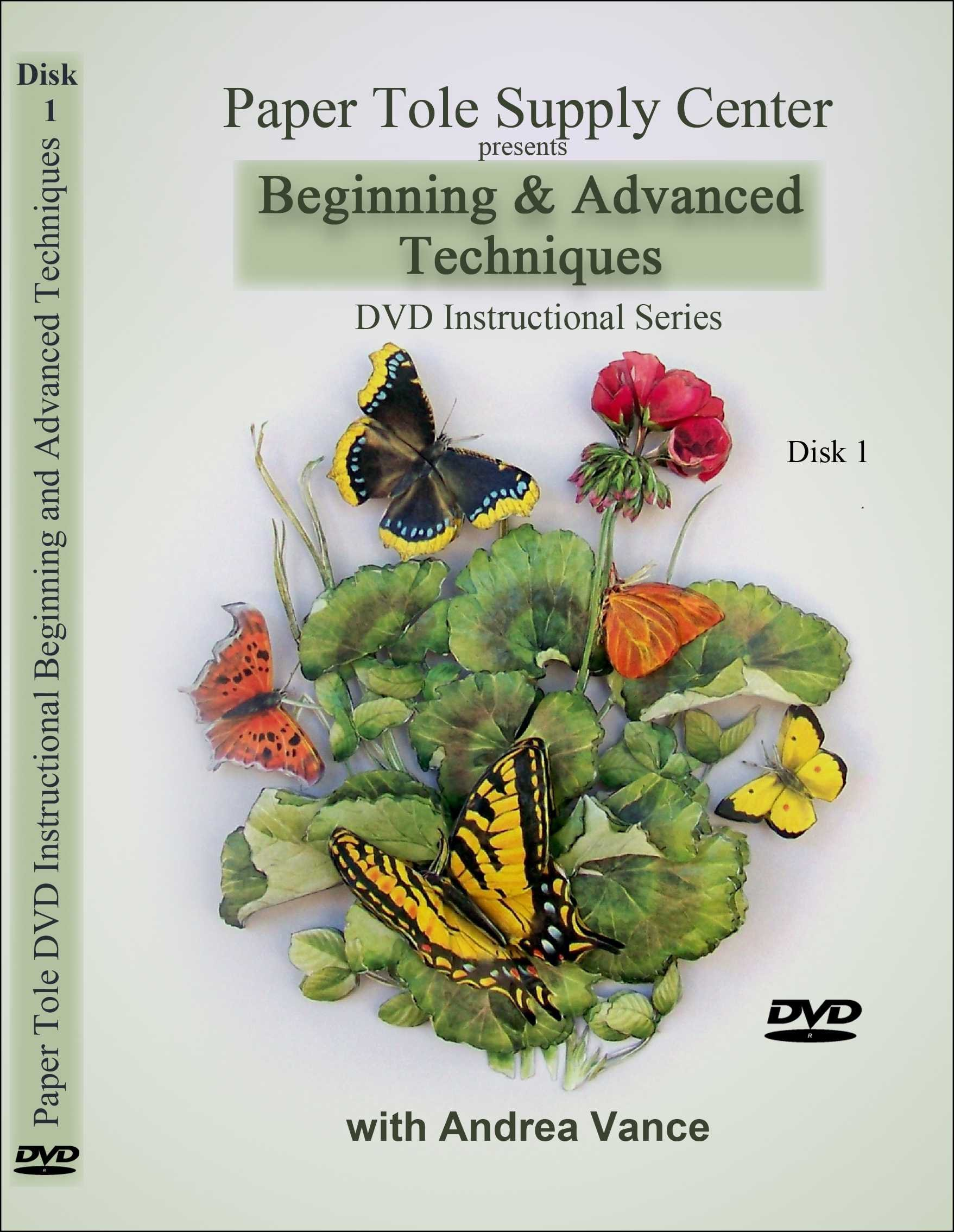 Learn Paper Tole DVD 1 Beginning & Advanced Techniques with Andrea Vance