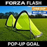 FORZA Flash Pop-Up Soccer Goals [Pair] - Available in 2.5ft, 4ft & 6ft for quick play [Net World Sports]