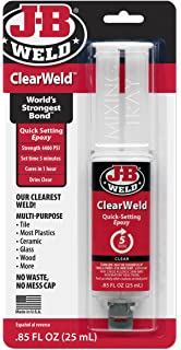 J-B Weld 50112 Clear 25 ml ClearWeld Quick-Setting Epoxy Syringe