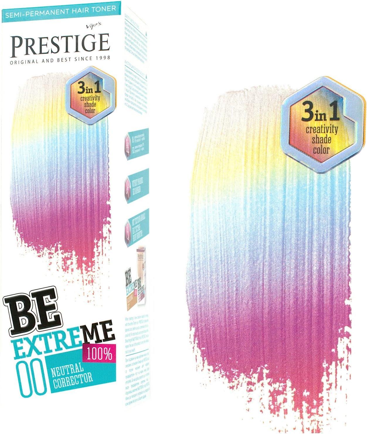 Be Extreme Tóner Semi Permanente para Pelo, Color 00 Neutral - Sin Amoniaco, Sin Parabenos y PPD