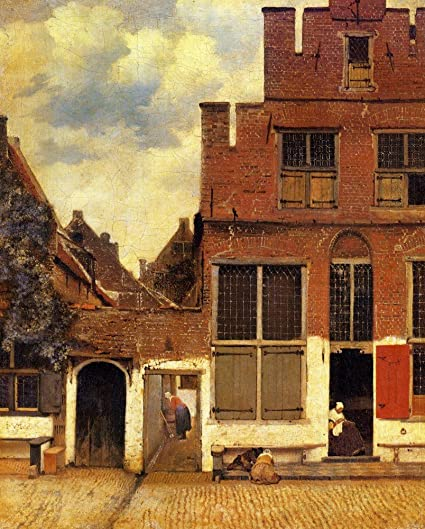 amazon com the museum outlet the little street by vermeer