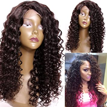 reliable quality shades of lower price with Premier Spiral Curls Human Hair Wigs With Baby Hair Deep Curly Lace Front  Wigs For African American...