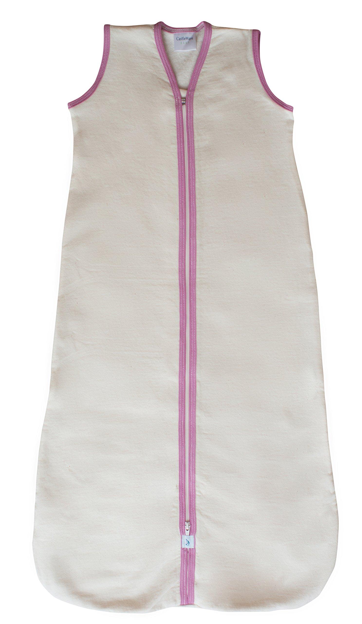 CastleWare Baby Sleeveless Fleece Sleeper Bag (LRG 12-18 Months, Rose Pink) by CastleWare Baby
