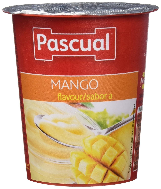 Pascual Yogur Sabor Mango - Paquete de 4 x 125 gr - Total: 500 gr - , Pack de 6: Amazon.es: Alimentación y bebidas