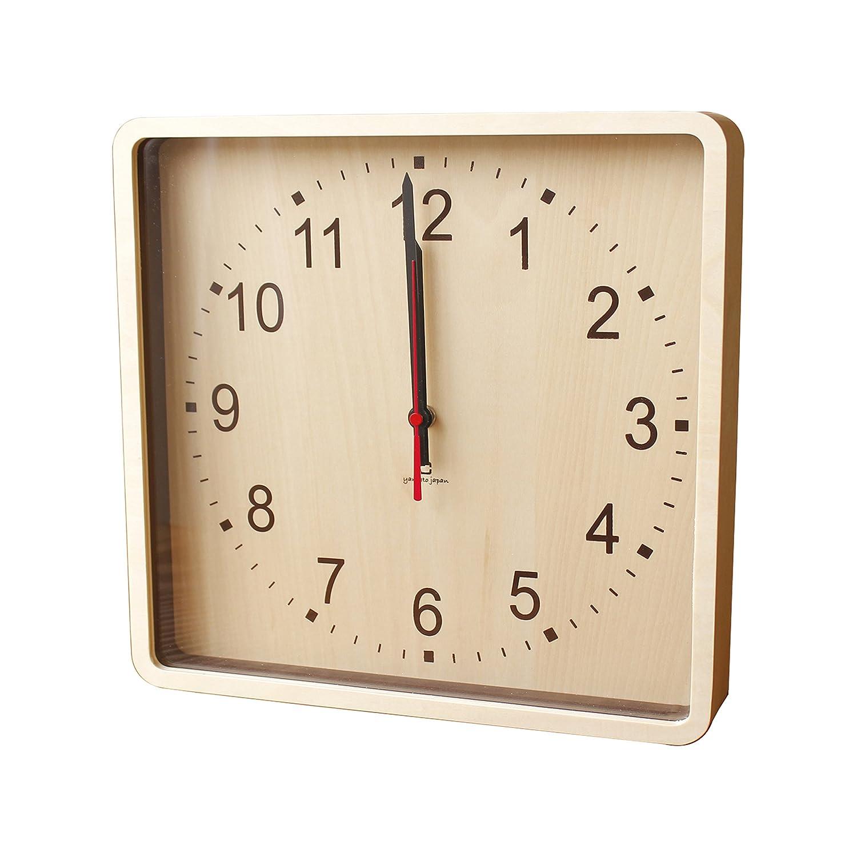 ヤマト工芸 ROUND CLOCK -wall(掛時計) ブラウン YK15-103 B01JI79WSG ブラウン ブラウン