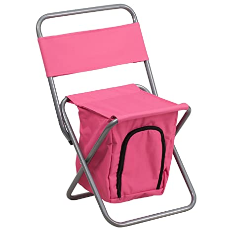 Superieur Flash Furniture Folding Camping Chair With Insulated Storage In Pink
