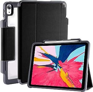 "STM Dux Plus, ultra-protective case for Apple 12.9"" iPad Pro / 3rd Gen with Pencil storage - Black (stm-222-197L-01)"