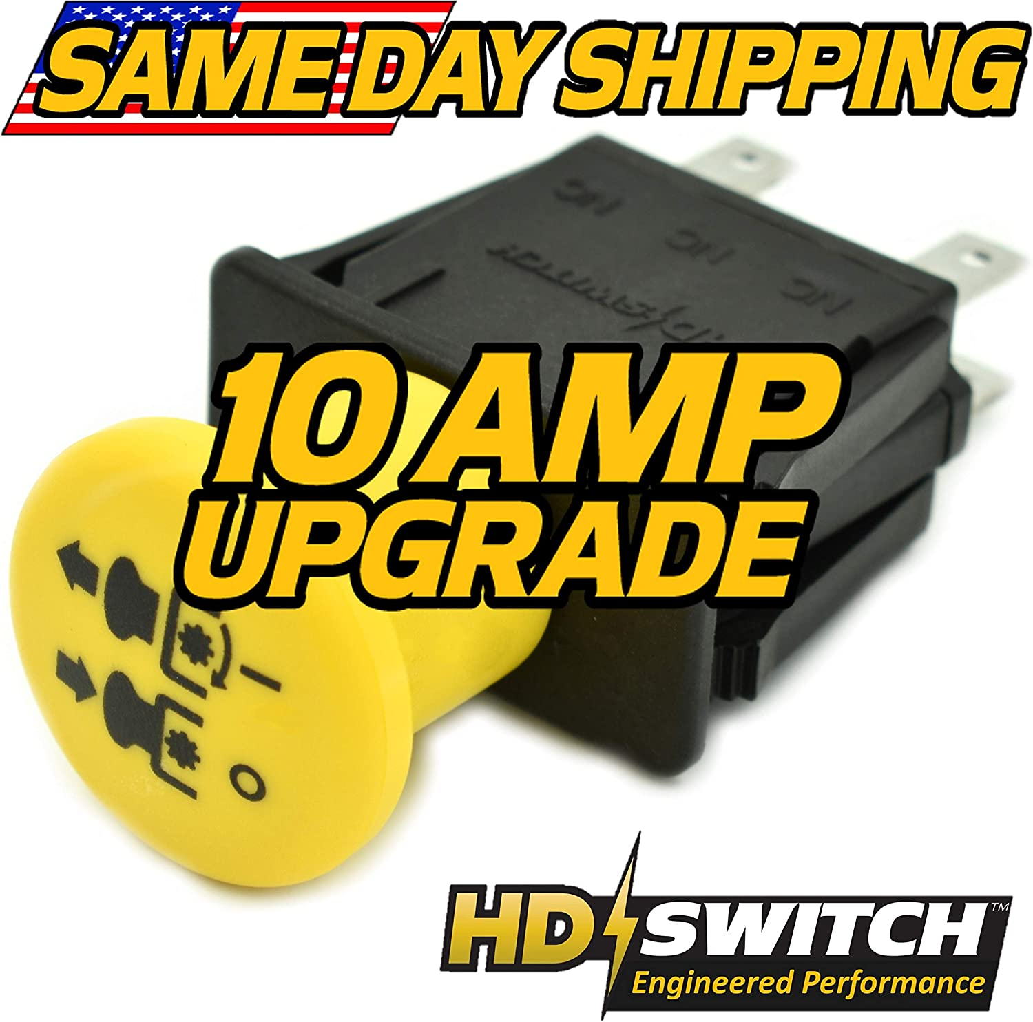 Amazon.com : HD Switch Blade Clutch Engagement PTO Switch - OEM Upgrade -  Replaces John Deere Ztrak 717, 727, 737, 757, 777, 997-10 AMP Upgrade :  Garden & Outdoor