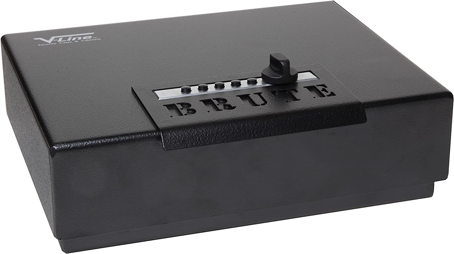 V-Line Brute Heavy Duty Safe with Quick Access Lock, Black