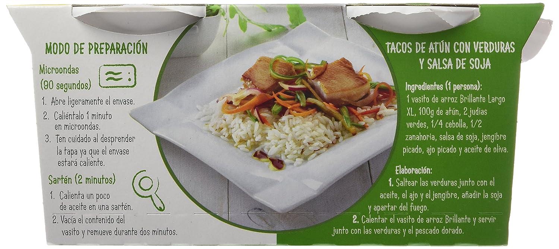 Brillante Arroz Largo Precocido - Paquete de 2 x 200 gr - Total: 400 gr: Amazon.es: Alimentación y bebidas