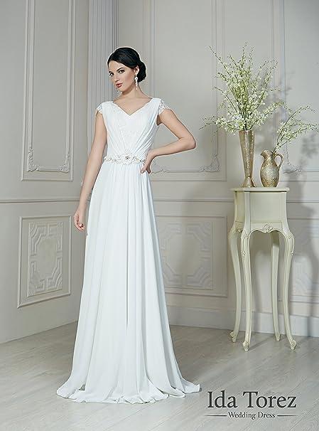 Ida Torez - Vestido de novia blanco blanco talla única