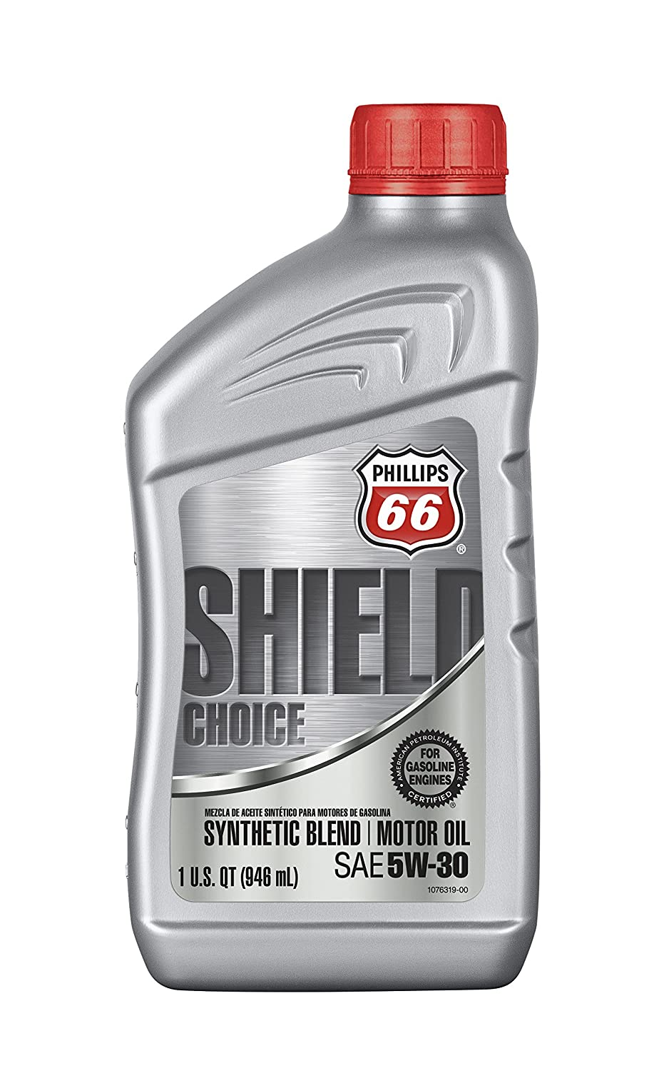 Amazon.com: Phillips 66 1074882 Blend Motor (Shield Choice Synthetic Oil 5W30-1 Quart), 32 fl. oz, 1 Pack: Automotive