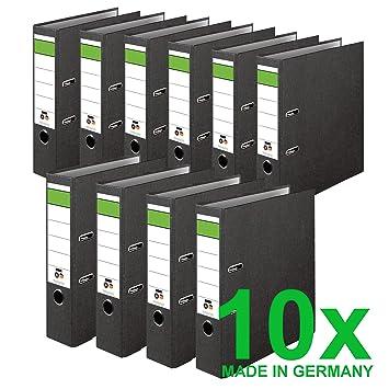 Dinor Ordner Wolkenmarmor Recycling 8 Cm Breit Din A4 Schwarz 10er