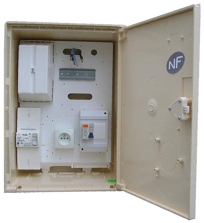 Coffret compteur de chantier EDF 15/45 amp. 3/6/9 kva