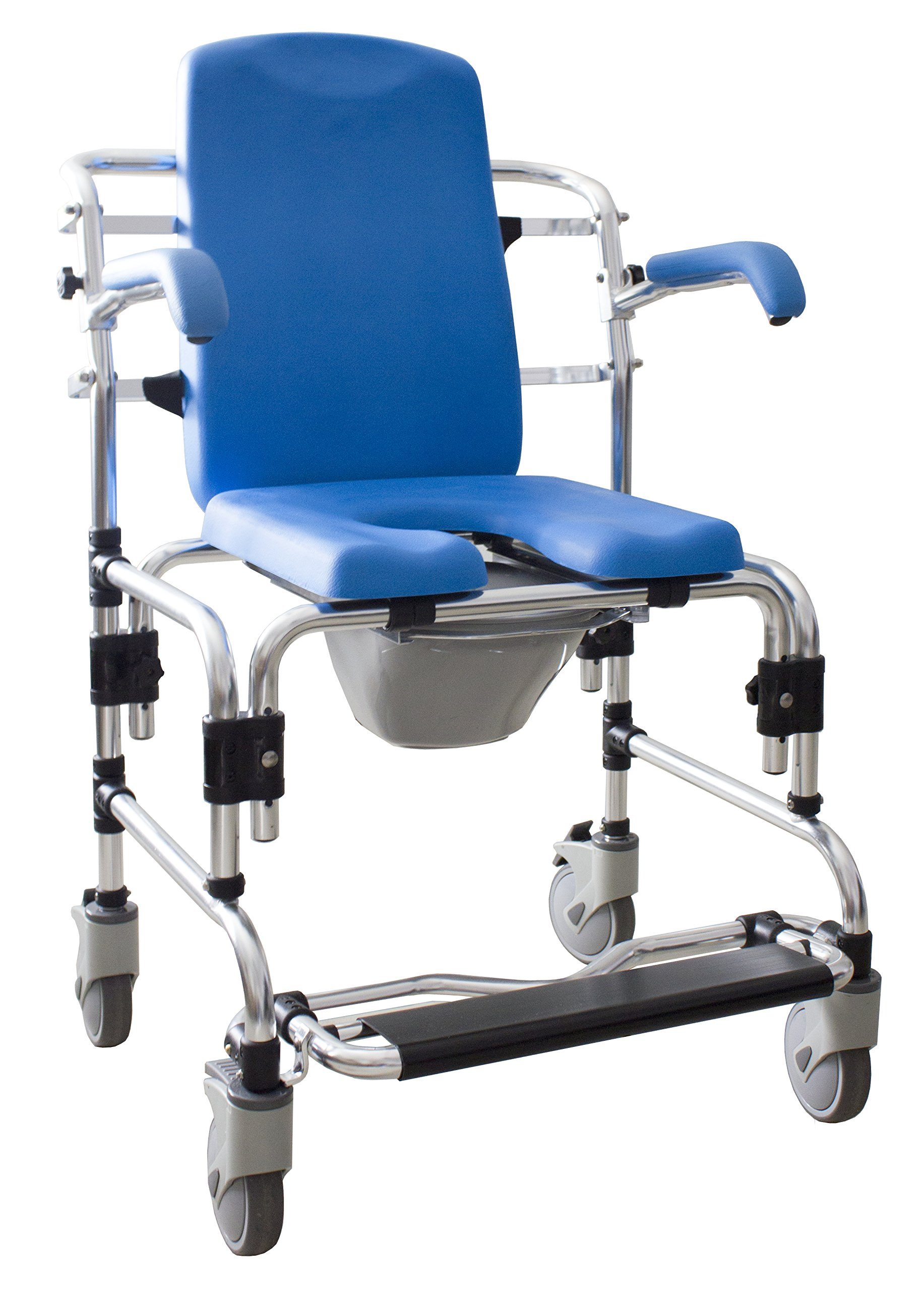 Caspian Professional Mobile Shower/Commode Chair-PADDED